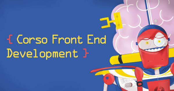 Banner del Corso Front End Development
