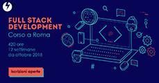 Banner promozionale del Corso Full Stack Development