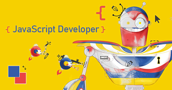 Banner promozionale del corso JavaScript Developer Online in Dirett Streaming, firmato LABFORTRAINING
