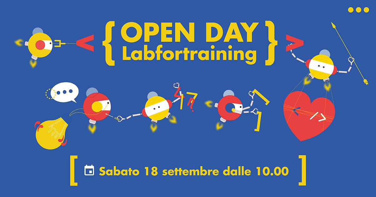 Banner dell'Open Day LABFORTRAINING del 18 settembre 2021