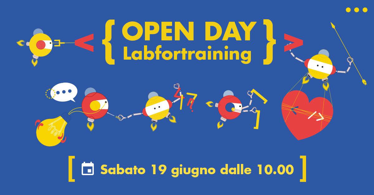 Banner dell'Open Day LABFORTRAINING del 19 giugno 2021