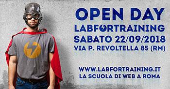 Open Day LABFORTRAINING – La Scuola di Web a Roma - 22 settebre 2018.